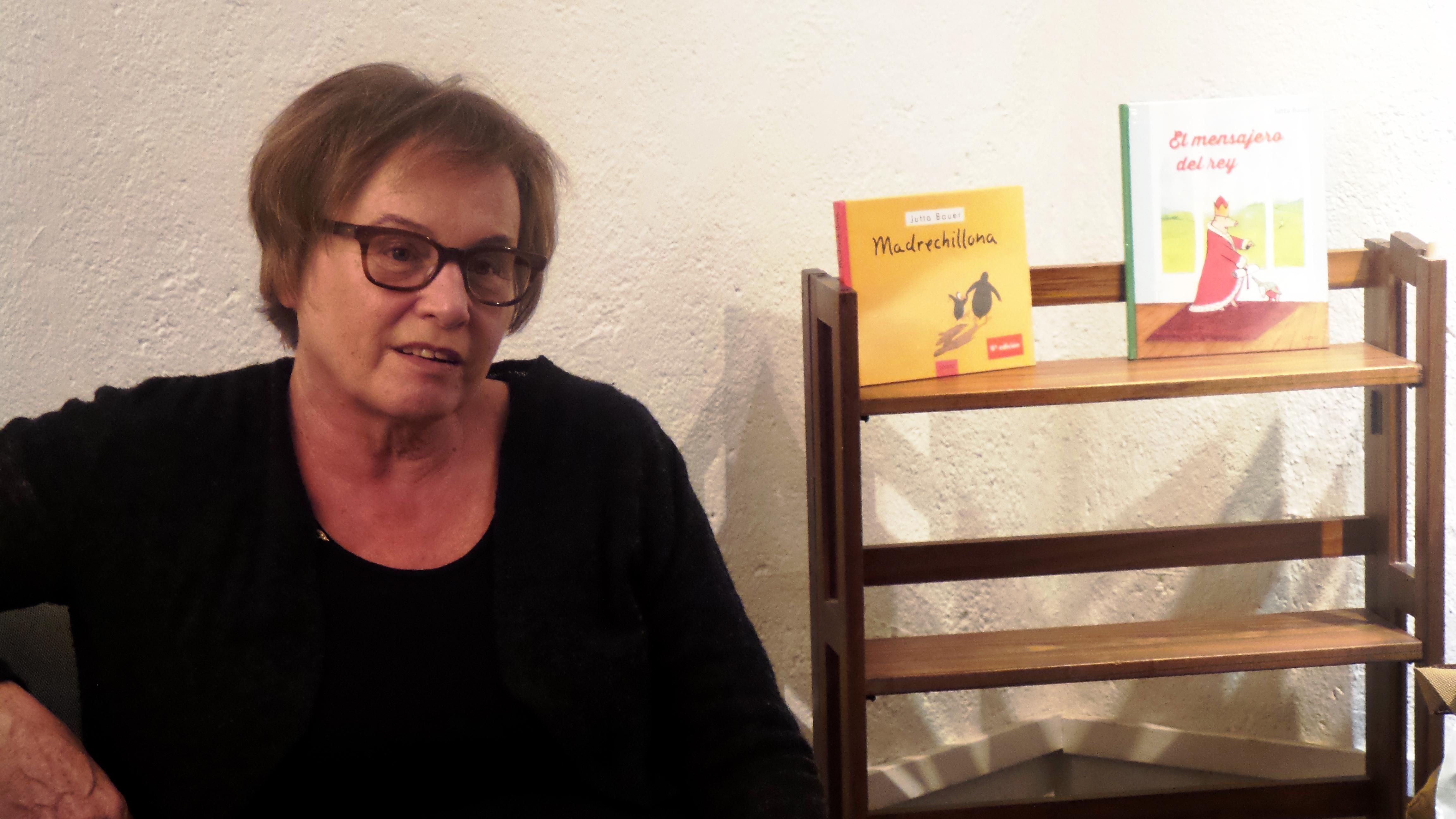 Jutta Bauer conversó con ilustradores y editores