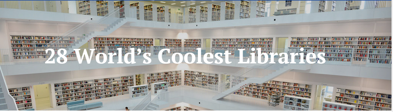 Las 28 bibliotecas de ensueño.