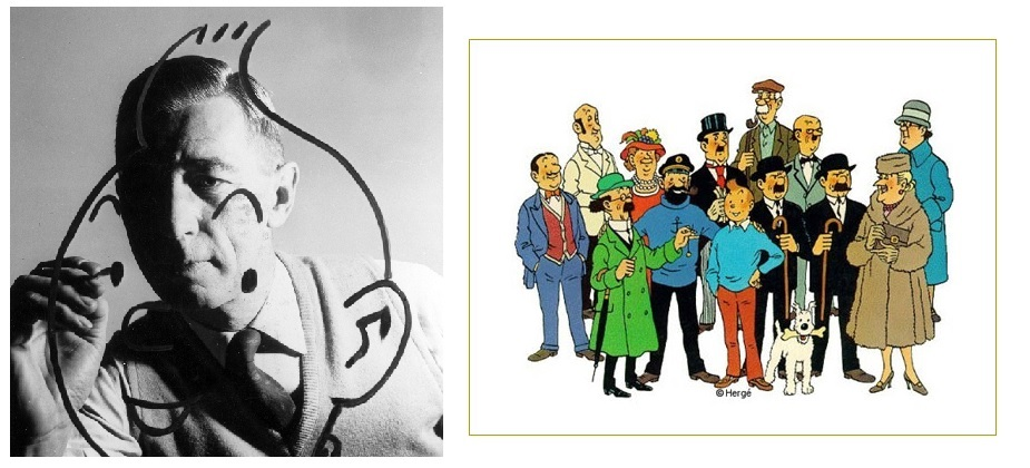 A 122 años del nacimiento del dibujante belga Hergé
