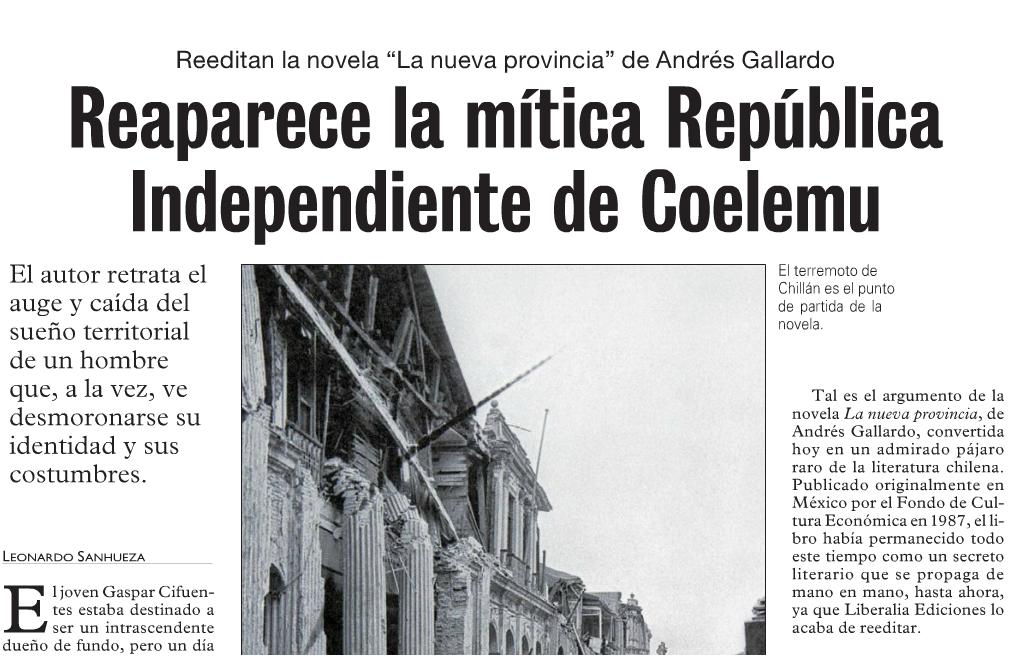 Reaparece la mítica República Independiente de Coelemu