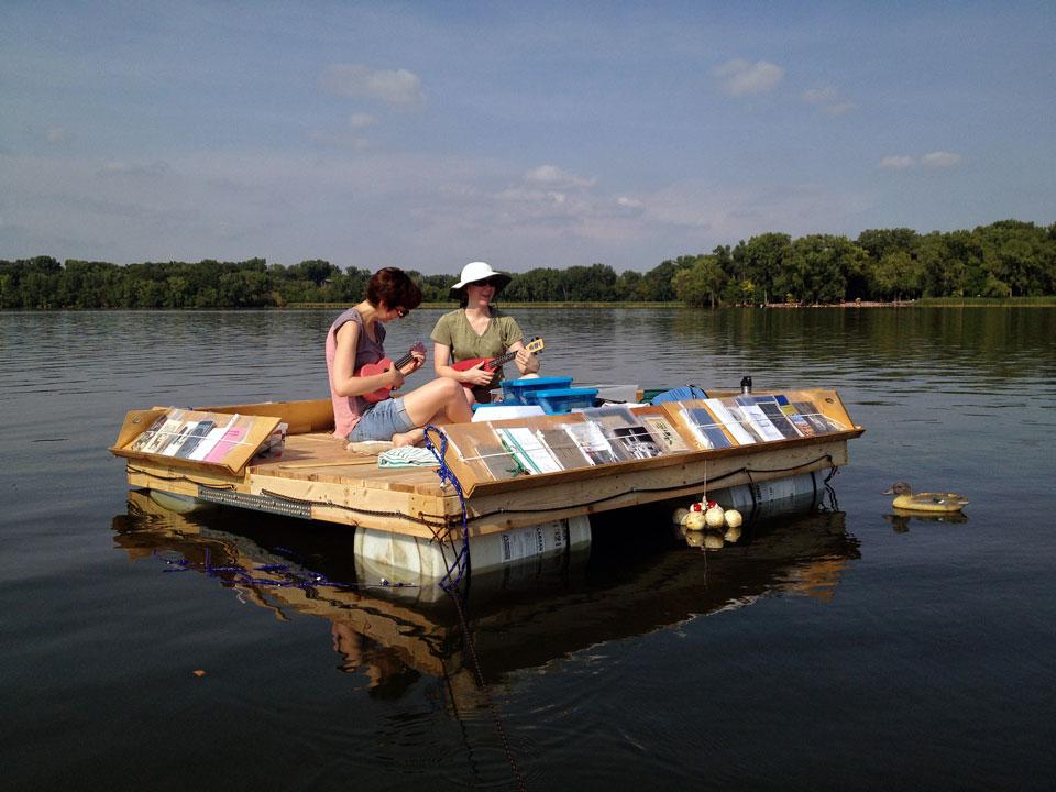 La librería flotante