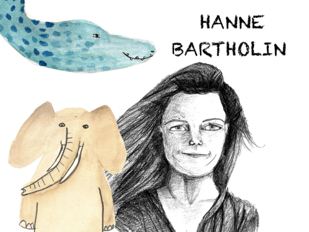 Hanne Bartholin y un tierno elefante llamado Carlos